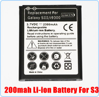 Wholesale 100pcs AAAAA Quality mAh Li ion Battery Pack Replacement For Samsung Galaxy S3 SIII i9300 S DHL Fedex