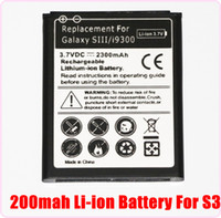 For Samsung   50pcs 2300mAh Li-ion Battery Pack Replacement For Samsung Galaxy S3 SIII i9300 S 3 Free DHL fedex Facotry Sale