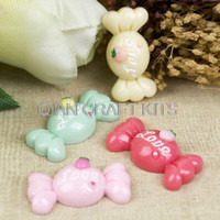"""Other Women's Resin Set of 50 pcs big candy w """"Love"""" signature 30mm resin flat back embellishment hair bow headband supplies, scrapbooking"""