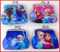 Wholesale 2014 New fashion baby girls Frozen Coin Purses kids Snow Queen wallet children princess Elsa Anna money bag party supplies