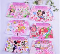 Wholesale 480 Pure cotton cartoon children s underwear Boxer cartoon underwear of the girls Children s underwear