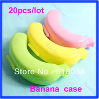 Bamboo Bedding Eco Friendly Free Shipping 20pcs lot Large Cute Banana Guard Container Storage Lunch Fruit Protector Plastic Box Case
