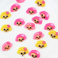 Others   set of 100pcs 20x14x5mm Dora with flower bow flat back embellishment, hair bow , card making supplies, scrapbooking sz0616