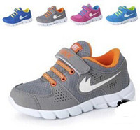 Wholesale Factory Direct Sales children shoes breathable running shoes plough boys girl outdoor light sport shoes
