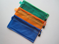 Wholesale A6 Gridding Zipper Bag Documents Pen File Paper Pocket Folder Blue Orange Green
