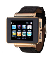 GSM850 No Smartphone No Brand 1pcs lot I8s QaudBand Smart Watch Phone Leather Strap 1.8'' LCD Spy Camera 1.3MP FM G-Sensor GPS BT MP3 Torch WiFi Shaking Music Change