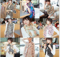 Wholesale Fast arrived Fashion new print chiffon long women scarf scarves shawls