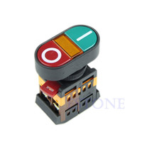 New D6837  1PC Light Indicator Momentary Switch Red Green Power ON OFF Start Stop Push Button free shipping