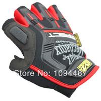 Wholesale Half Finger Parkour Bicycle Gloves Kevlar Mesh Grid Fitness Gloves Motorcycle Bicycle Tactical Army Black Gloves Men Z321