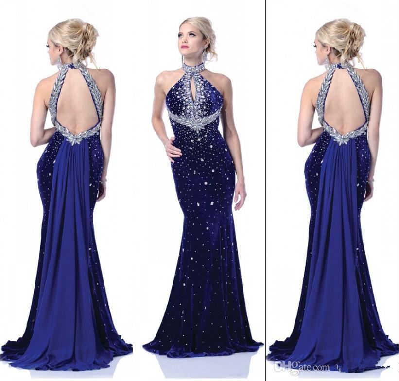 Turmec » halter backless prom dress