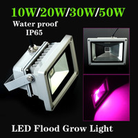 Wholesale 2013 Brand New W w w w Blue nm Red nm Hydroponic Plant Flood LED Grow Lights Water Proof
