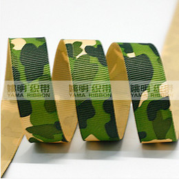 Wholesale 2014 New quot mm Camouflage Ribbon Grosgrain Printed Army Ribbon rds roll