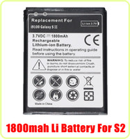 Cheap AAAAA Quality 3.7V 1800mAh Li-ion Battery Pack Replacement For Samsung Galaxy S2 SII i9100 S 2 Free Shipping DHL Fedex 50pcs