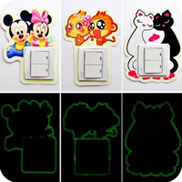 Wholesale Creative luminous cartoon style Bedroom SWITCH STICK Stickers Hot popular charm fashion cute switch stickers Vivid switch decoration Hot