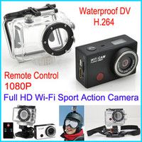 Digital Camcorders HDD / Flash Memory Less than 2'' Wi-Fi Sports DV action camera Full HD1080P 5.0 MP CMOS Helmet Camera Video Anti-Shake Waterproof Camera with wifi Remote Control