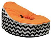 Wholesale black zig zag orange top pattern base baby seat retail baby bed baby seat bean bag baby bean bag