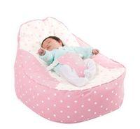 Wholesale pinkdots pattern base baby seat retail baby bed baby seat bean bag baby bean bag