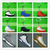 Wholesale Fast delivery Classic Jorrdaan shoes keychains PVC D sneaker keychain Fan souvenirs Key Rings club gift sports keychain