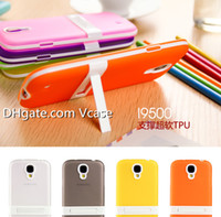 For Samsung Plastic White Hybrid Hard PC+Silicone Stand Phone Cases For Samsung S3 I9300 S4 I9500 S5 9600 I8190