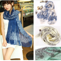 arab scarf - New Woman Fashion Voile Scarves Colors Arab Floral Printed Scarves Women s Floral Scarves