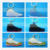fashion  shoe keychain - chaussures porte cles Fashion shoes keychains PVC D sneaker keychain Fan souvenirs Key Rings sports keychain USA France