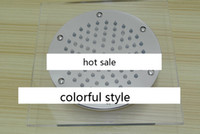 Bathroom Faucet Accessories Yes Shower Heads 2014 Fashion Crystal Temperature Sensing 3 Colors LED Water Shower Head Overhead Shower 5pcs lot Fedex Free shipping