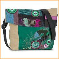 Wholesale 2014 New Fashion Embroidery DESIGUAL Green BAG Womens Handbag Messenger Shoulder Bag