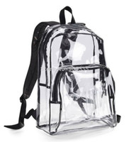 Unisex Solid Yes down.Clear PVC With Black Trim Backpack