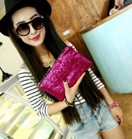 Wholesale Clutch Bag Wholesale Prices - Factory price Luxury Dazzling Sequins Handbag Party Evening Bag Wallet Purse Glitter Spangle Day Clutch Bags Gold Handbag Cosmetic bag