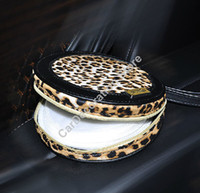 Wholesale RUICH New Leopard Leather Disc CD DVD Holder Storage Wallet Case Bag Box For Car Home