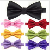 Wholesale Gentleman Series High Quality men s tie South Korean silk Men tie bow tie CM CM hand made Colors