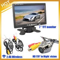 """Parking Assistance Yes  New Free Shipping by HKPAM ,Wireless Car Rear View Kit HD IR Night Vision Reversing Camera+ 7"""" Moniter+Adapt"""