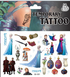 Wholesale New arrival Frozen tattoo sticker temporary tattoo stickers kids DIY sticker body and finger decoration retail