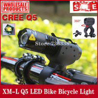 Wholesale New CREE Q5 LED Cycling Bike Bicycle Front Head Light With Mount