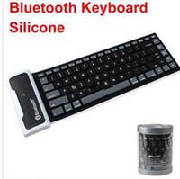 Standard wireless silicone keyboard - Mini Bluetooth wireless Keyboard waterproof Silicone keyboard For iPad roll up keyboard in retail box