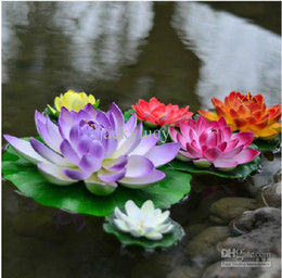 10 CM Diameter Beautiful Artificial Lotus Flower Floating Water Flowers For Christmas Ornament Wedding Party Decoration Supplies