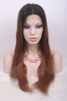 Cheap Ombre Color Wigs Best Straight Indian hair kinky straight u part wig