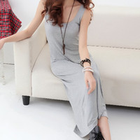 Casual Dresses V_Neck Knee Length New2014 gorgeous dress stripe vest striped dress modal Bohemia sling back skirt dress