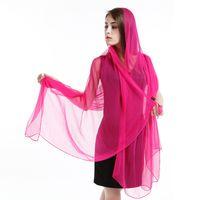 Wholesale new silk scarf scarves georgette plain colour scarf women scarf