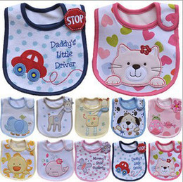 Wholesale 80 Types Pure Cotton Baby Bibs Cute Cartoon Water proof Bibs For Boys and Girls