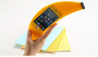 For Apple iPhone Silicone Yellow 2014 Cute Big Banana i 4s Case Silicone Shockproof Fruit Stylish Soft Back Cover Skin for iPhone 4 Free shipping Yellow