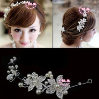 Fascinators Faux Pearl  The bride wedding accessories married pearl jewelry Korean flower hair wholesale factory outlets