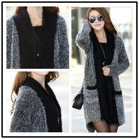 Wholesale Fashion New women sweater mohair knit sweater cardigan spring autumn winter long style women knitwear shawl piece