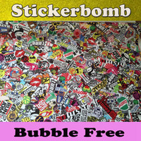 Wholesale Stickerbomb Sticker bombing JDM EURO styling for car sticker Vinyl car wrapping Auto graphics With air Bubble Free Size x30m Roll