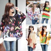 Women 100% Linen Long New 2014 Summer Women's Fashion Batwing Dolman Sleeve Chiffon Shirt Bohemian Style Tops Oversized 6 Colors b10 SV000978
