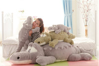 Unisex 8-11 Years Anime & Comics 105cm New Arrival Stuffed animals Big Size Simulation Crocodile Plush Toy Cushion Pillow Toys for adults