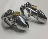 Male Chastiy Belt  2014 Hot Selling Male Chastity belt Stainless Steel Cock Cage For Man Metal Bondage Device with Spike Ring