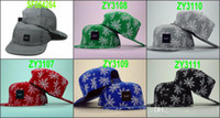 Snapbacks Unisex Embroidered Wholesale - Mix Order Free Shipping HUF 5 PANEL Snapback Hats Snapbacks Hats Snap back Hat snap backs hats caps