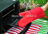 Wholesale silicone Oven Gloves Kitchen Heat Proof Protector bakeware Oven Microwave Mitts Cooking tools