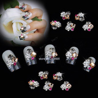 Black Round  New Wholesale Nails Supply 3D Flowers DIY Acrylic Nails Design Nails Art, Unique Gifts 11817